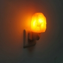 Glass Natural Mini Himalaya Salt Crystal Night Light Plug In Wall Light