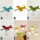 Aircraft 1/3/4 Bulb Hanging Lamp Blue/Green/Yellow/Red Metallic Ceiling Pendant Light for Kindergarten