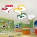 Number Shape LED Ceiling Light Modern Fashion Amusement Park Bedroom Acrylic Flush Light