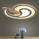 Lovely Dolphin LED Kids Room Flush Ceiling Lamp