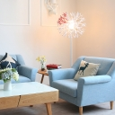 Contempoary Style White Coral Floor Lamp with Metal Base