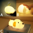 Cute Silicon Gel Rabbit/Dog Kids Bed Night Light USB Rechargeable 3 Styles Available