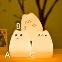 Sillica Gel Lovely Cat Kids Sleeping LED Nightlight 3 Types for Option