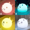 Lovely Cartoon Animals Baby Kids Night Light USB Rechargeable 4 Styles for Option