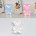 Lovely Cartoon Bear Led Mini Girls Bedroom Night Light in Blue/Pink/White