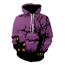 3D Halloween Series Printed Long Sleeve Leisure Hoodie
