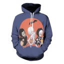 Halloween Series Character Printed Long Sleeve Leisure Hoodie