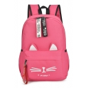 MEOW Letter Cat Printed Leisure Backpack School Bag