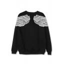 Kpop BTS Korean Star Taehyung Wing Printed Round Neck Long Sleeve Sweatshirt