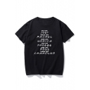 EAT LIKE Letter Printed Round Neck Short Sleeve T-Shirt