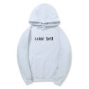 RAISE BELL Letter Printed Long Sleeve Loose Hoodie