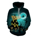 Halloween Series Letter Printed Long Sleeve Casual Hoodie