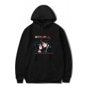 ROMANCE Letter Character Printed Long Sleeve Hoodie