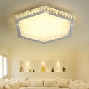 Crystal Shade LED Light Flush Mount Ceiling Light for Living Room Dining Room 15.75