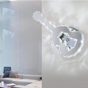 Crystal Accent Violin Shape Wall Sconce Light for Restaurant Hallway 13.39
