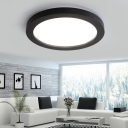 Simple Style Black Halo Led Flush Mount Lighting 18/24/36W High Brightness Cool White Light  Metal Round Surface-Mounted Led Ceiling Light