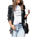 OH DARLING Letter Printed Round Neck Short Sleeve Tee