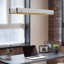 Office Lighting Ideas Multicolor Chandelier Glare-free Illumination Wrought Iron Led Linear Pendant 11-23W Energy-Saving Led Fixtures 23.62in/35.43in/47.24in Length
