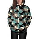 3D Cat All Over Printed Long Sleeve Casual Hoodie with Pocket