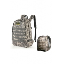 PUBG Chicken Dinner Camouflage Printed Letter Applique Backpack School Bag