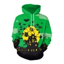 3D Halloween Series Animal Castle Printed Long Sleeve Hoodie