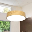 LED Modern Lighting Round Led Pendant Lighting Wood Grain 36W/40W/56W 16