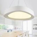 Designer Lighting Mango Shaped Led Chandelier 24W/44W Metal Acrylic Cord Adjustable Led Direct/Indirect Lighting for Living Room Bedroom Office Foyer Porch