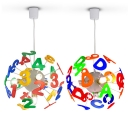 Sputnik 4 Lights Lighting Fixture Letters&Numbers Multi Color Acrylic Pendant Light for Kids Children