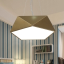 Contemporary Pendant Lighting Gold Geometric Led Chandelier 16