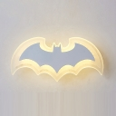 Cartoon Bat Shape LED Light Wall Sconce for Kids Bedroom Kindergarten 11.81