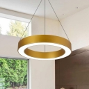 LED Modern Chandelier Gold Lighting 15.75