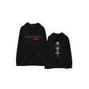Kpop Twice Korean Star Letter Graphic Printed Long Sleeve Hoodie
