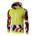 Color Block Long Sleeve Leisure Hoodie for Men