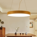Contemporary Led Chandelier Wood Globe Lighting 20W-36W, 3200K/4200K/6500K, Warm White Light 15.75