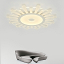 Sun Flower LED Light Flat Shade Ceiling Light Fixture for Living Room