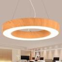Modern Circle Metal Chandelier Lighting Glare Control 15.75