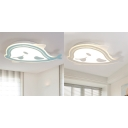 Cartoon Fish Shape Flush Mount Ceiling Fixture with LED Light for Kids Room Kindergarten