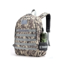 PUBG Chicken Dinner Camouflage Velcro Backpack School Bag