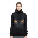 Digital Lion Printed Long Sleeve Sports Unisex Hoodie