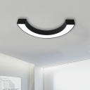 Designer Lighting C Shaped Led Ceiling Mount Light 20/30W Warm White Light Aluminum U-bent Led Direct/Indirect Lighting for Bedroom Office Hall Gallery