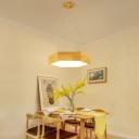Modern Wood Chandelier Lighting Glare Control Wood Grain Hexagon 18W-24W Energy-Saving Bedroom Office Study Room Commercial Led Lighting