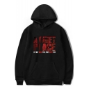 A QUIET PLACE Letter Graphic Printed Long Sleeve Hoodie