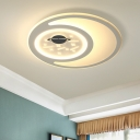Contemporary Style Space Design Flush Mount Ceiling Fixture for Kids Bedroom 16.93
