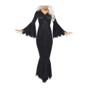 Cosplay Dark V Neck Long Sleeve Slim Maxi Pencil Dress