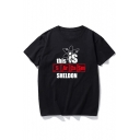 THIS SI SHELDON Letter Printed Round Neck Short Sleeve Graphic Tee