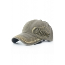 CLASSIC Letter Embroidered Contrast Stitching Leisure Baseball Hat