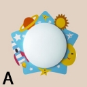 Adorable Acrylic Cartoon Sconce Light Nursing Room Kindergarten 1 Head LED Wall Lamp in Multi Color