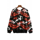 Camouflage Pattern Long Sleeve Casual Sports Hoodie