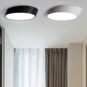 Designers Lighting Ideas Low Profile Lighting Led Beveled Cylinder Black/White Flush Mount Geometric Led Lighting 12/24/36W High Output with Cool White Light Small LED Ceiling Light