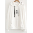 Bottle Character Japanese Embroidered Long Sleeve Hoodie